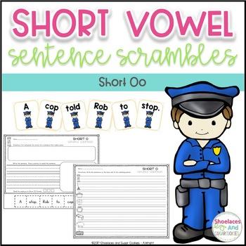 Short Vowel Sentence Scrambles - Oo