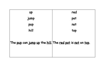 Short Vowel Sentences