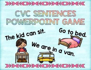 Short Vowel Sentences PowerPoint Game