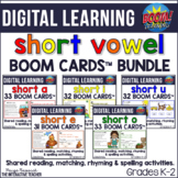 Short Vowel Shared Reading Activities BUNDLE | Boom Cards™