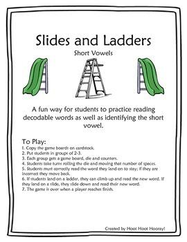 Short Vowel Slides and Ladders