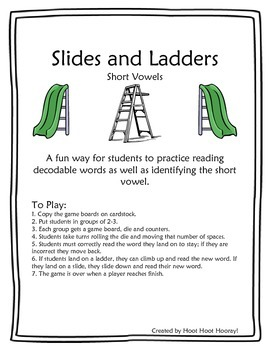Short Vowel Slides and Ladders