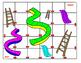 Short Vowel Slides and Ladders Game - short e,i,o,u