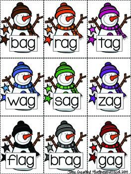 Short Vowels Game: Snowmen SPLAT! (Color)