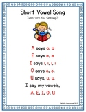 Short Vowel Song Poster (FREE!)