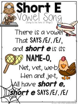 Short Vowel Songs -- Sampler