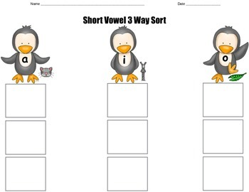 Short Vowel Sort