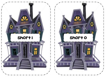Short Vowel Sort- Bat Themed