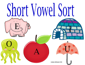 Short Vowel Sort Center Activity