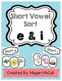 Short Vowel Sort--E & I