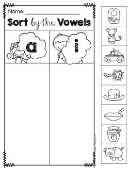 Short Vowel Sort {Medial Sounds}