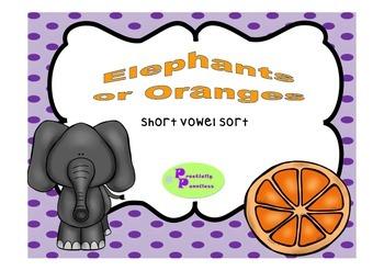 Short Vowel Sort - short e and o