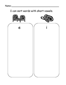 Short Vowel Sorting