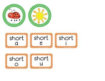 Short Vowel Sorting Coins