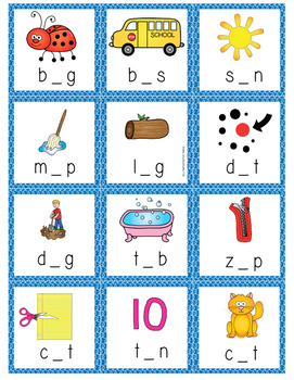 Short Vowel Sorting Game