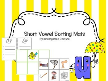 Short Vowel Sorting Mats