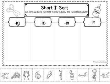 Short Vowel Sorts for the Primary Classroom