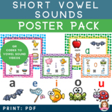 Short Vowel Sound Bookmark & Poster Bundle with QR codes to Vowel Sound Stories