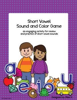 Short Vowel Sound & Color Game