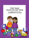 Short Vowel Sound & Color Game