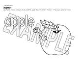Short Vowel Sound Coloring Pages