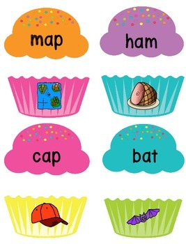 Short Vowel Sound Game: Yummy Cupcakes!