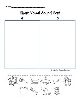 Short Vowel Sound Sort