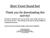 Short Vowel Sound Sort - Free