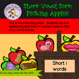 Short Vowel Sound Sort Learning Center:  Apple Picking