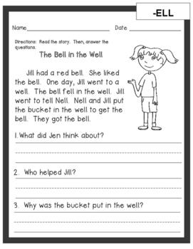Short Vowel Sound Word Family Reading Passages (35 Passages)