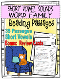 Short Vowel Sound Word Family Reading Passages (35 Passages)