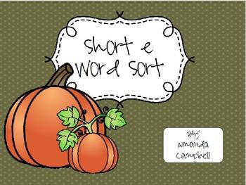 Short Vowel Sound Word Sort Growing Bundle