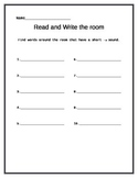 Short Vowel Sound Word Work
