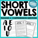 Short Vowel Sounds - A, E, I, O, U Reading Passages and Co