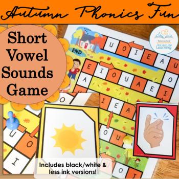 Short Vowel Sounds  Autumn Game spookydollardeals