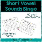 Short Vowel Sounds Bingo - 25 Different Game Cards