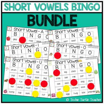 Short Vowel Sounds Bingo Bundle (6 Games)