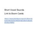 Short Vowel Sounds - Boom Cards