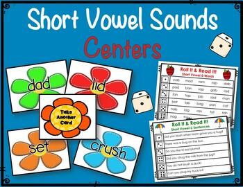Short Vowel Sounds Seasonal Centers & Worksheets
