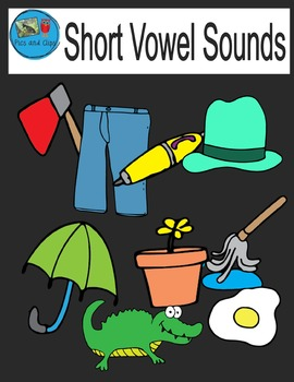 Short Vowel Sounds Clip Art