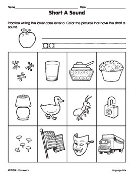 Short Vowel Sounds (CCSS RF.1.2a)