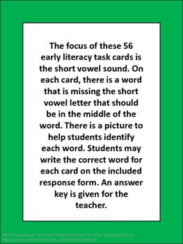 Short Vowels Task Cards