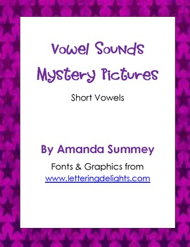 Short Vowel Sounds Mystery Pictures