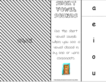 Short Vowel Sounds Phonics Foldable for Interactive Notebook
