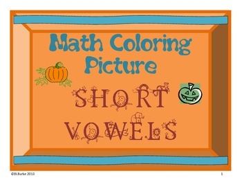 Short Vowel Sounds - Pumpkin Coloring Picture - Free!