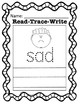 Read-Trace-Write CVC Short Vowel Words