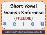 Short Vowel Sounds Reference {FREEBIE}