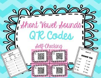 Short Vowel Sounds Self Checking QR Codes