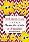Short Vowel Sounds - a, e, i, o, u - Phonics Worksheets -