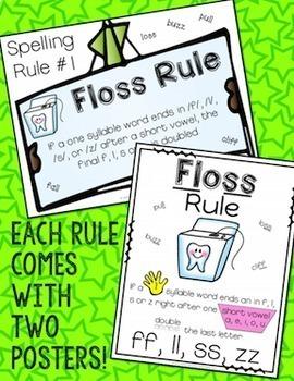 Short Vowels Spelling Rules Poster Set